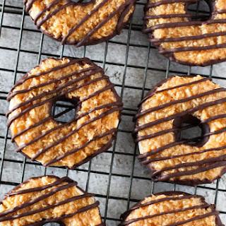Gluten Free Vegan Samoa Cookies.