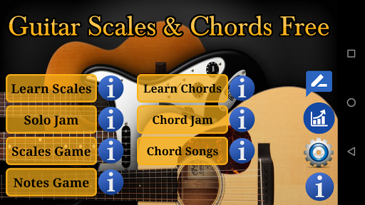 Guitar Scales & Chords Free Added Sustain option screenshots 1