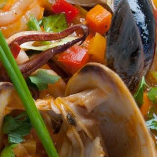 Seafood Stew (Cazuela de Mariscos).