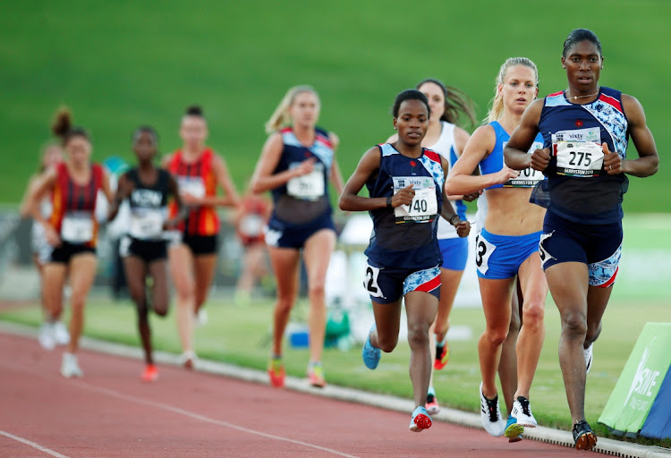SA's double Olympic champion Caster Semenya takes part in the 5,000m run at the SA Championships in Germiston. Picture: REUTERS/SIPHIWE SIBEKO