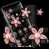 Pink Gold Flower Black Luxury Theme
