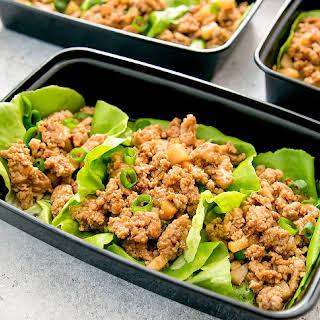 Chicken Lettuce Wraps Meal Prep.