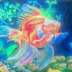 The Goldfish by Satyabrata Paul - Drawing All Drawing (  )