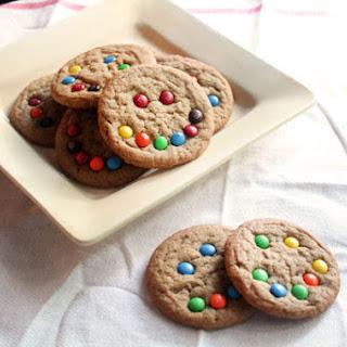 Brown Sugar Cookies with Mini M&Ms
