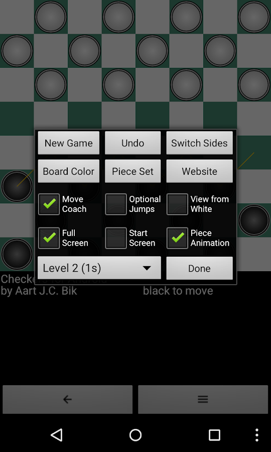 Checkers for Android- screenshot