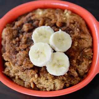 Peanut Butter Banana Protein Bread Pudding {Vegan, Gluten Free}
