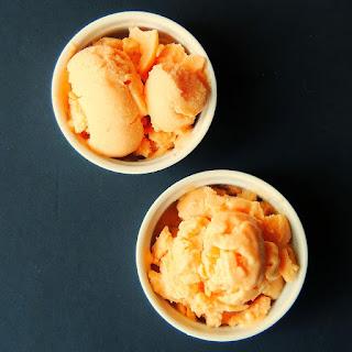 Easy No Churn Peach Frozen Yogurt #SundaySupper
