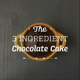 3 Ingredient Chocolate Cake Recipe
