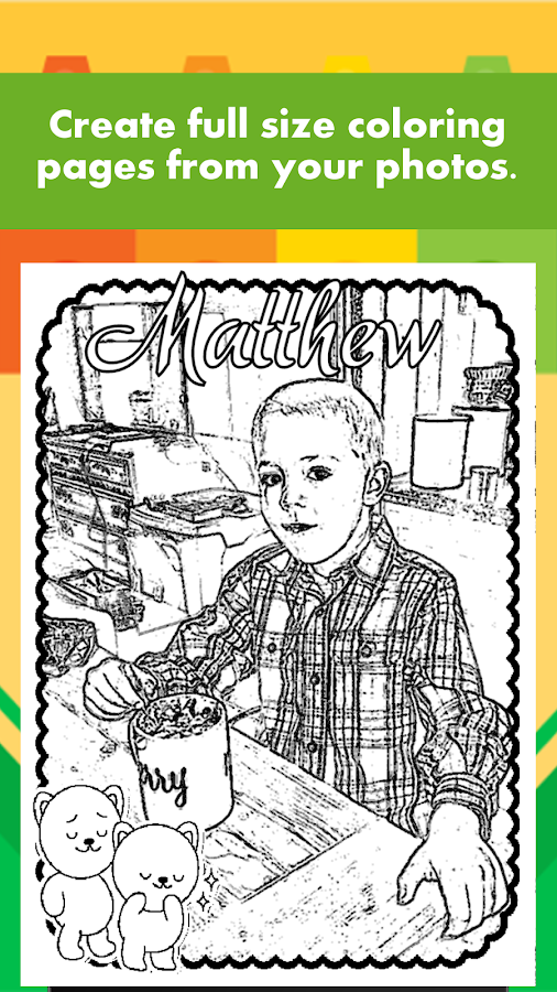 Coloring page Maker - photo to coloring page - Android Apps on ...