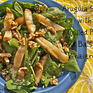 Arugula Salad with Grilled Pear & Balsamic Vinaigrette