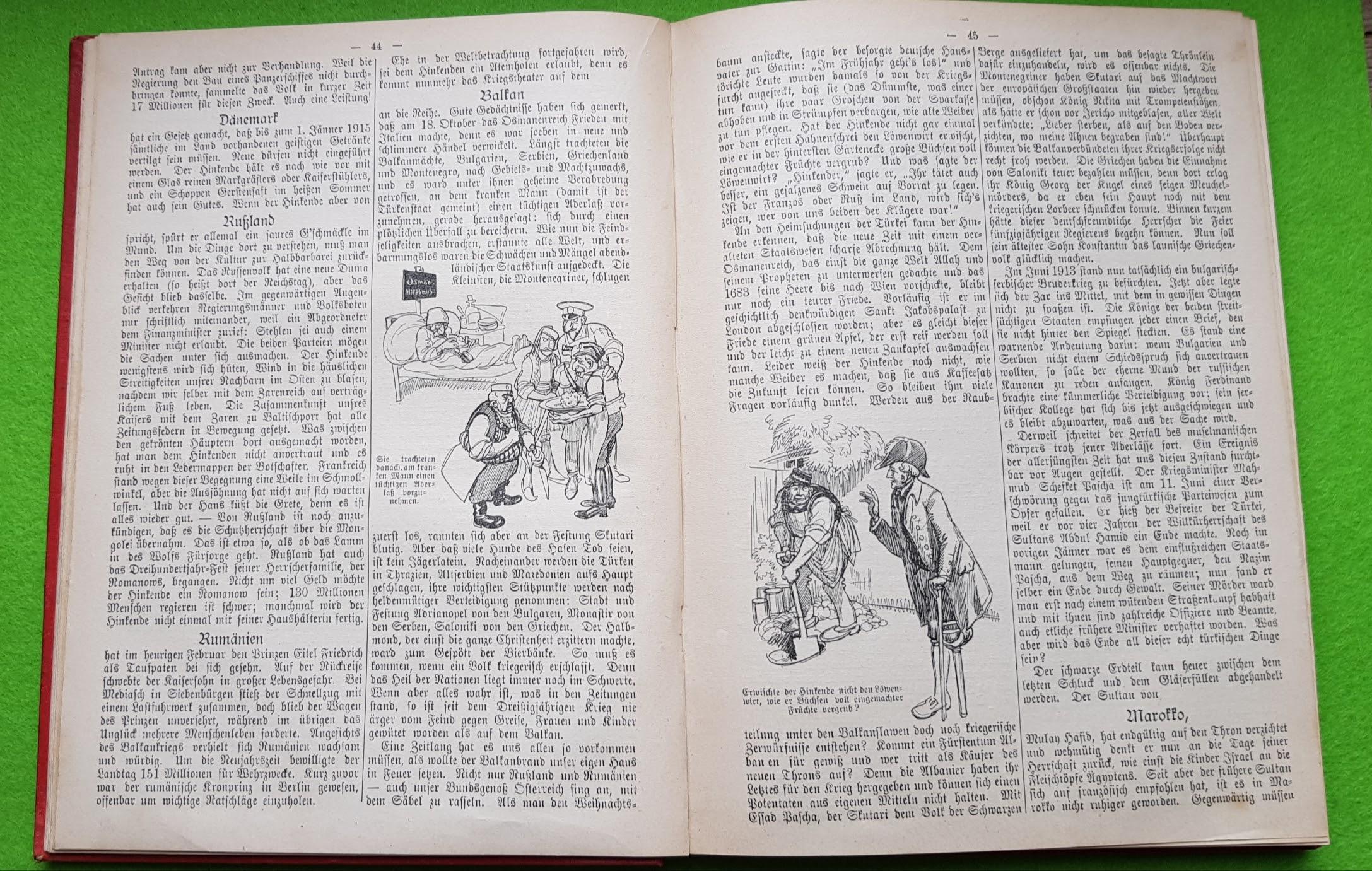 Lahrer hinkender Bote 1914 - Weltbegebenheiten