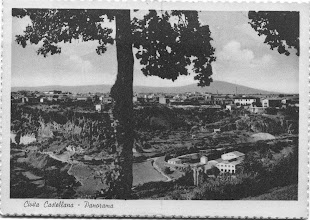 Photo: Panorama della città sulla Valle del Treia. Prima metà '900.