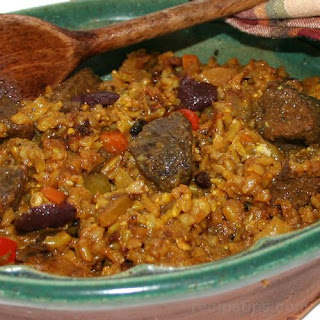 Mediterranean Lamb and Rice Casserole Recipe