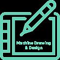 Machine Drawing & design icon