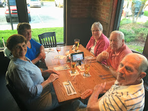 Photo: Opening night supper at UNO...Nancy, Alice, Mary Sue, Jim and Duane.  Bob P not in photo.