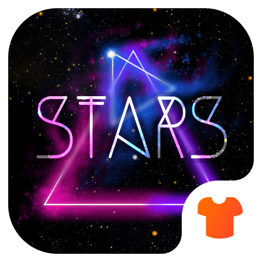 Color Phone Theme - Neon Night Star Icon