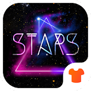 Color Phone Theme - Neon Night Star
