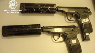 Las dos pistolas halladas en el jacuzzi en 2009