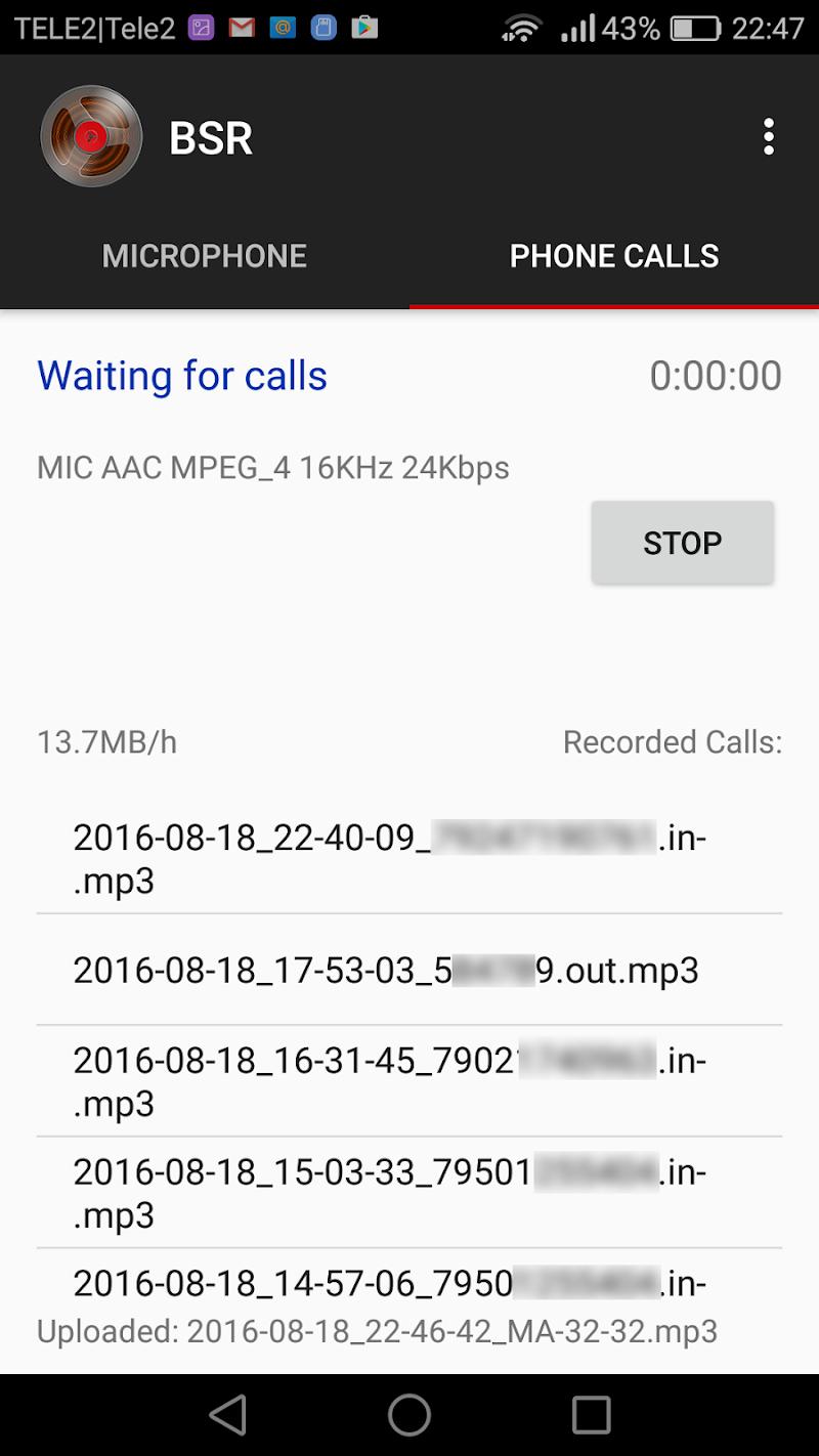 Background Sound Recorder Screenshot 0