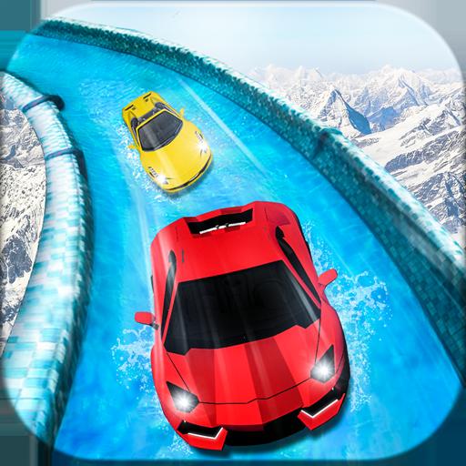 Frozen Water Surfer Car In Racing : Waterpark Race