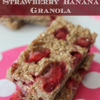 Strawberry Banana Granola Bars.