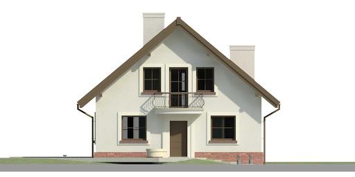 Dom przy Cyprysowej 46 - Elewacja przednia