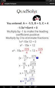 how to solve quadratic formula step by step