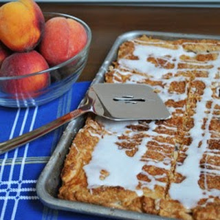 Peach Raspberry Slab Pie