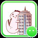 Stickey Play Cute Godzilla icon