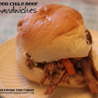 Green Chile Beef Sandwiches.