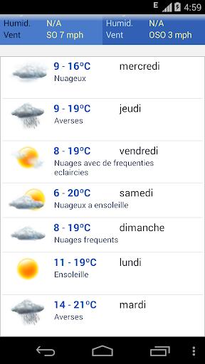 Meteo Belgique screenshot 2