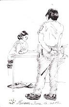 Photo: 女監看診2012.06.04鋼筆 女監看診人數向來比較少,通常的做法是全部帶進診間,然後關門,以防男收容人窺探…