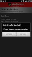Screenshot of Free Antivirus for Android