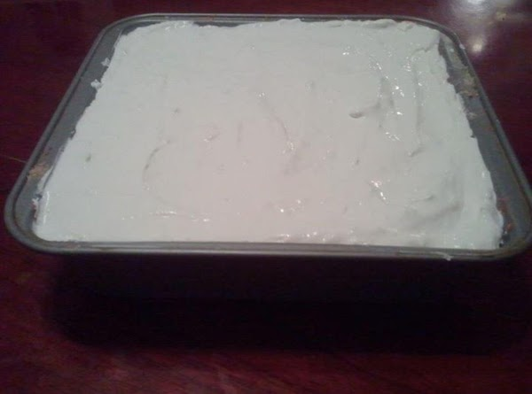 Add SOFTENED cream cheese to whipped cream and mix together until soft. Add over...