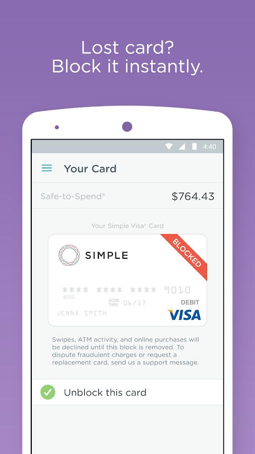 Simple - Better Banking - screenshot