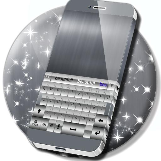 GO Keyboard Silver Theme
