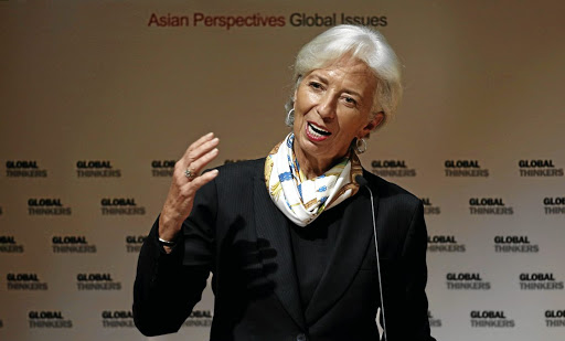 International Monetary Fund MD Christine Lagarde speaks at the University of Hong Kong, China, on April 11 2018. Picture: REUTERS