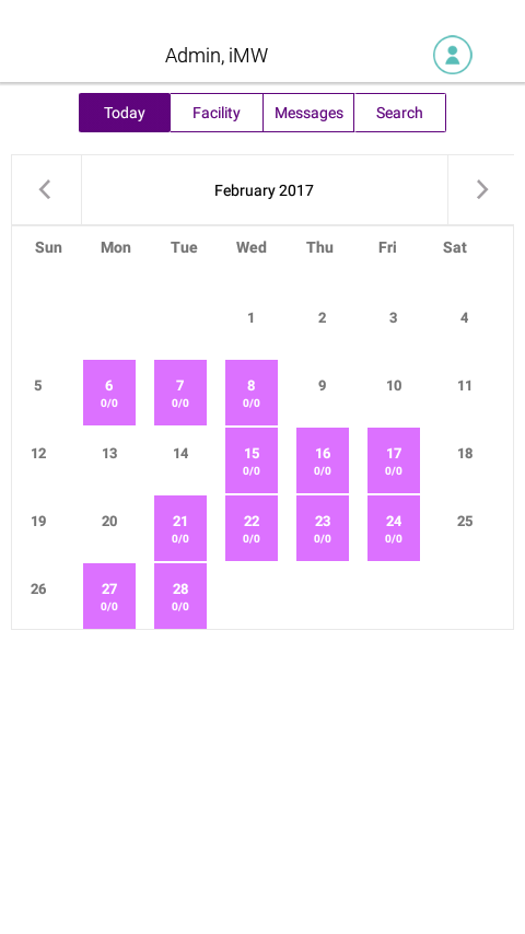 iMedicWare Schedule- screenshot
