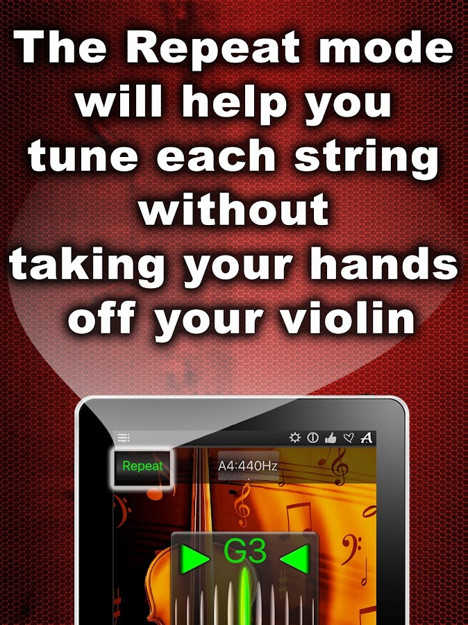 Chromatic Violin Tuner- screenshot