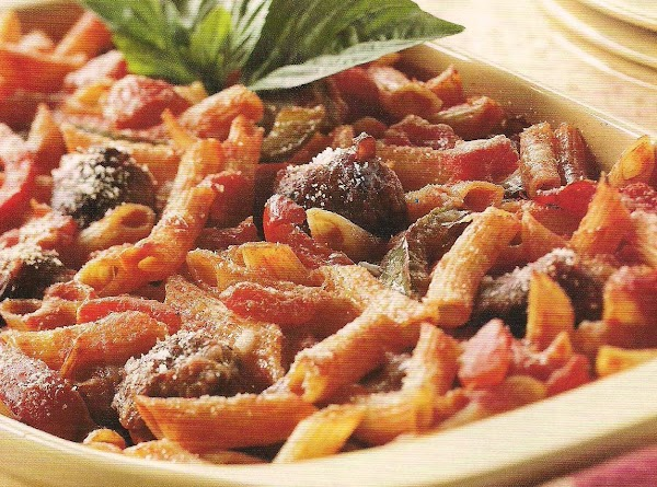Baked Pasta With Sausage And Peppers Recipe