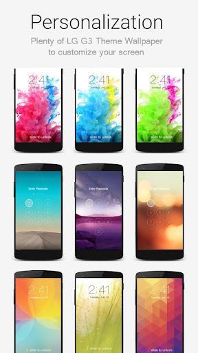 Lock Screen LG G3 Theme screenshot 2