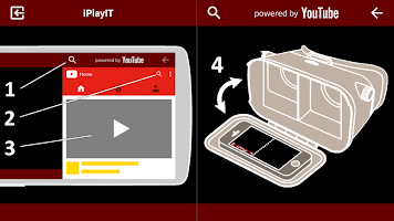 screenshot of iPlayIT for YouTube VR Player