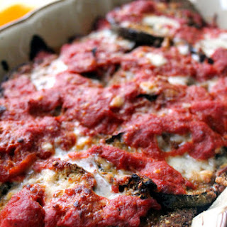 Baked Eggplant Parmigiana with Sunday Sauce
