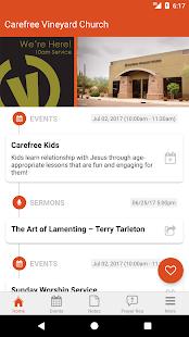 Carefree Vineyard Church App - náhled