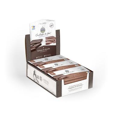 Chocolat Tablette de chocolat au lait Boîtes présentoirs