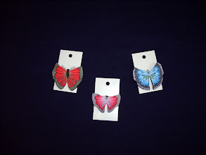 Photo: Left to Right: $18.00, $22.00 and $29.99.  Polymer Clay butterfly