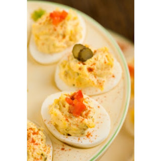 Traditional Southern Deviled Eggs.