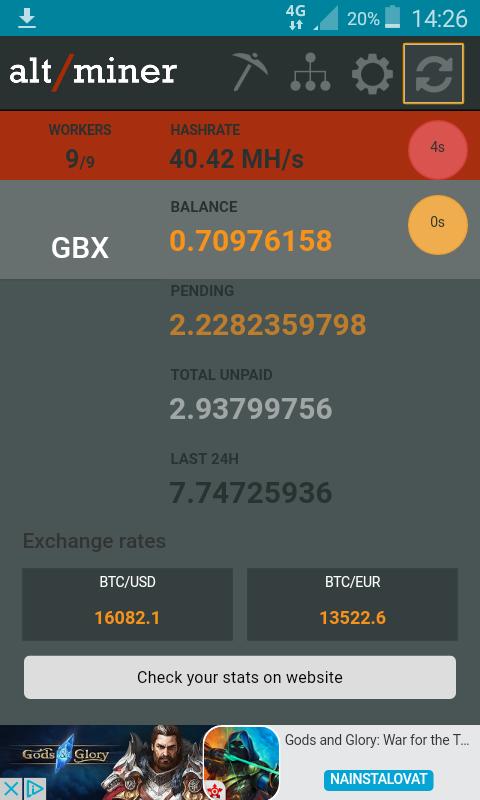Altminer Balance Monitor