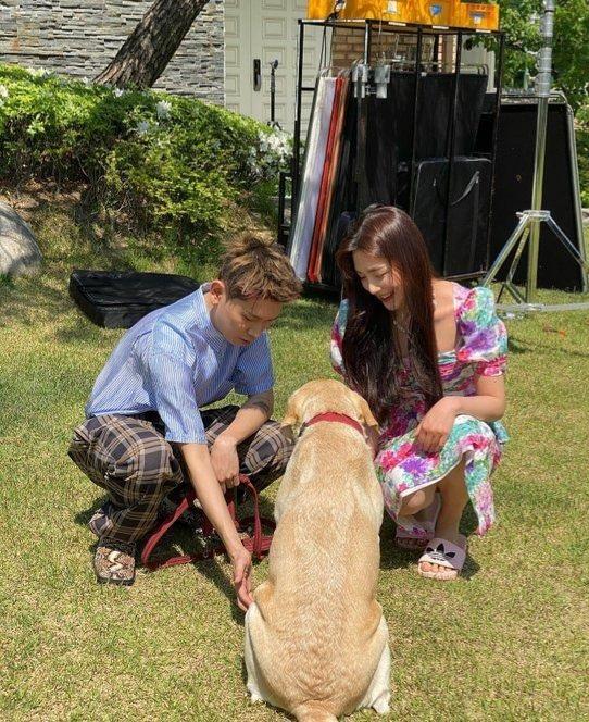 crush joy and a dog