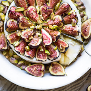 Easy Bake Brie with Figs and Honey.